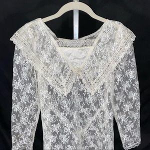 Gunne Sax white lace 14 vintage